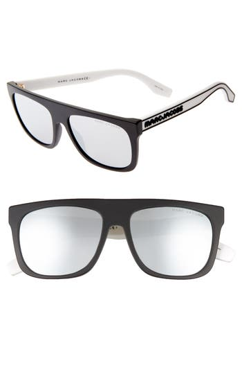 MARC JACOBS 56mm Mirrored Flat Top Sunglasses