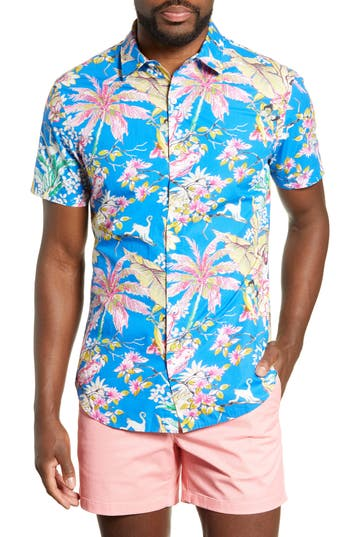 Bonobos Amalfi Premium Slim Fit Tropical Print Cotton Sport Shirt