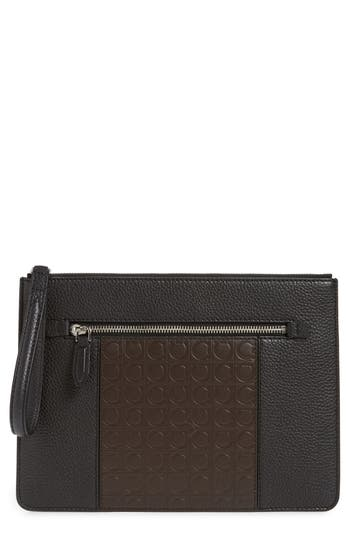Salvatore Ferragamo Leather Travel Document Holder