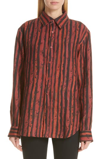 Martine Rose Logo Stripe Shirt