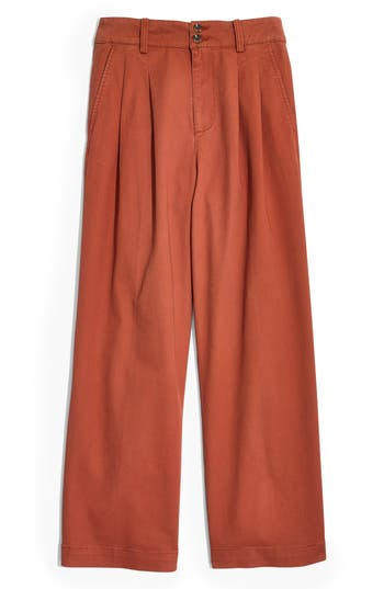 Madewell High Waist Crop Wide Leg Pants
