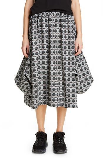 Comme des Garçons Print Elastic Waist Skirt