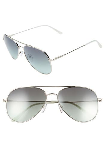 Calvin Klein 59mm Mirrored Aviator Sunglasses