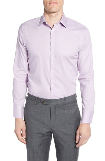 Nordstrom Men's Shop Extra Trim Fit Non-Iron Solid Dress Shirt