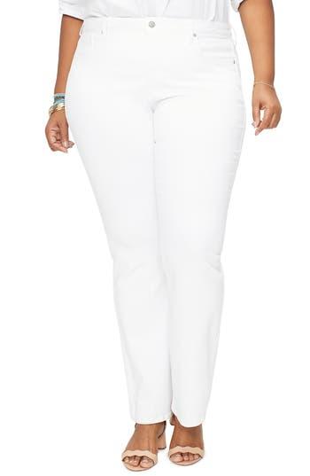 NYDJ Barbara High Waist Bootcut Jeans (Optic White) (Plus Size)