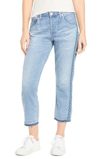 Citizens of Humanity Emerson Crop Slim Boyfriend Jeans (Porto Stripe)