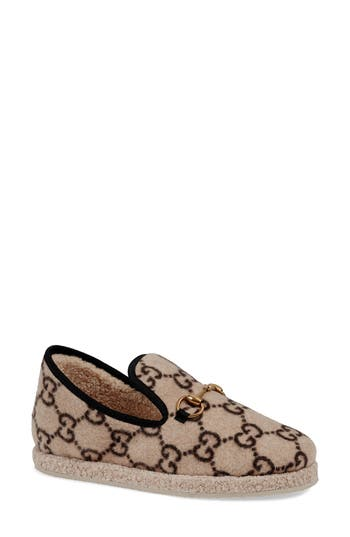 Gucci Fria GG Supreme Wool Slipper Loafer (Women)