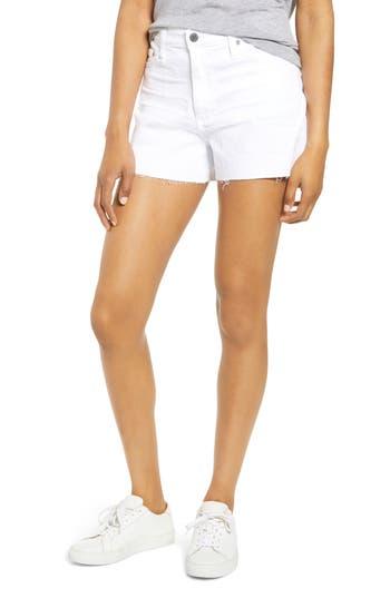 AG Mikkel High Waist Cutoff Denim Shorts (1 Year Optic White)