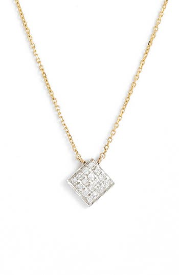 Women's Dana Rebecca Designs 'Lisa Michelle' Diamond Pavé Square Pendant Necklace (Nordstrom Exclusive)