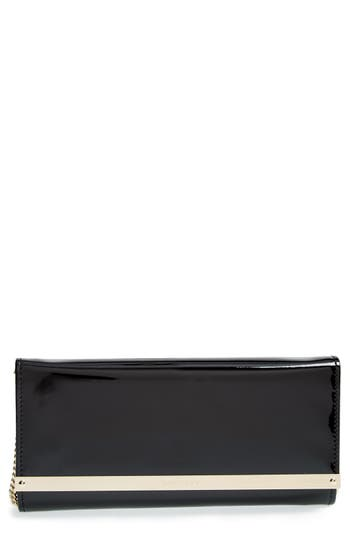 Jimmy Choo 'Milla' Patent Leather Wallet On A Chain - Black at NORDSTROM.com