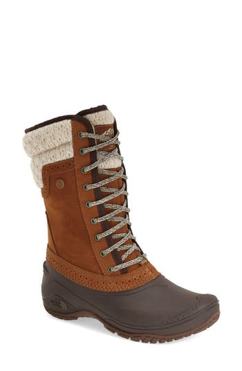 The North Face Shellista Waterproof Insulated Snow Boot, Brown