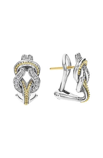Women's Lagos 'Newport' Diamond Knot Earrings