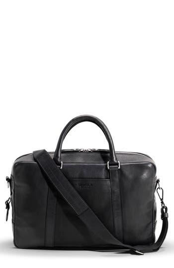 Shinola Signature Leather Slim Briefcase -