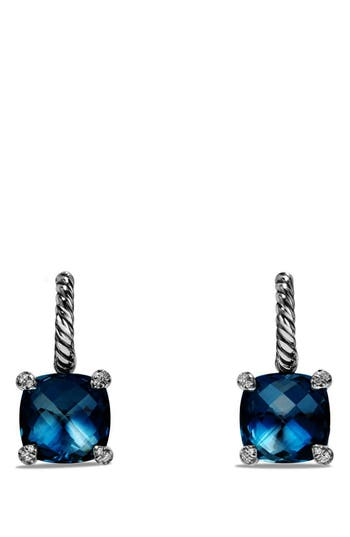 Women's David Yurman 'Châtelaine' Drop Earrings With Semiprecious Stones And Diamonds