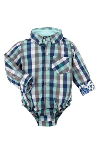 Infant Boys Andy  Evan Shirtzie Check Bodysuit