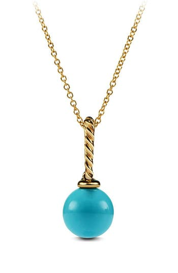 Women's David Yurman 'Solari' Pendant Necklace In 18K Gold