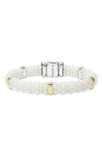 Women's Lagos 'White Caviar' Station Bracelet