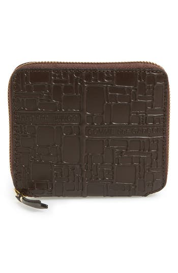 Comme De Garcons Embossed French Wallet -