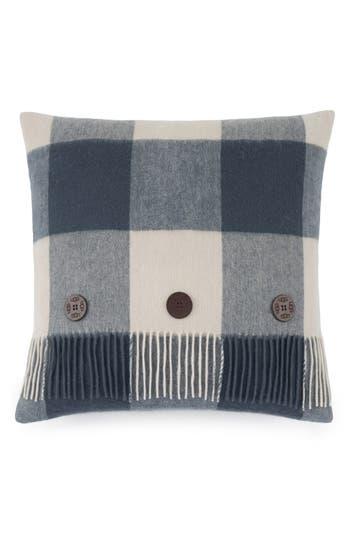Ugg Buffalo Plaid Wool Pillow, Size One Size - Blue
