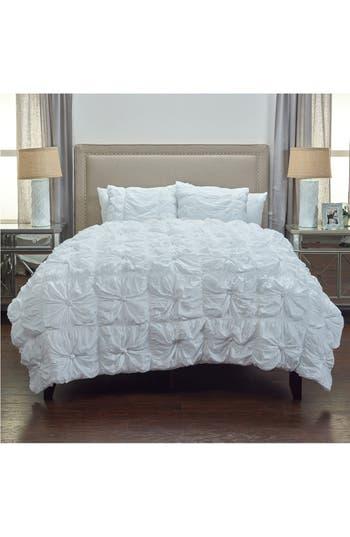 Rizzy Home Knots Comforter & Sham Set, Size King - White