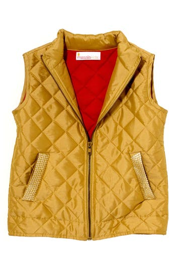 Girl's Masalababy 'Estelle' Quilted Vest