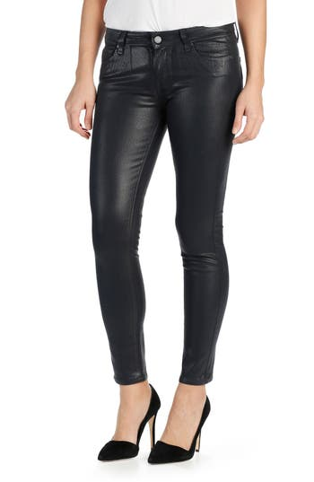 Paige Transcend Verdugo Coated Ultra Skinny Jeans, 3 - Blue