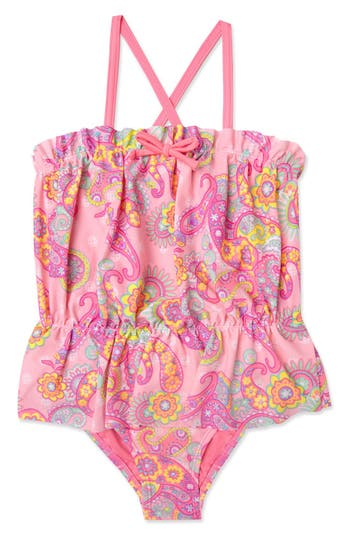 Girl's Hula Star 'Enchanted Paisley' One-Piece Swimsuit