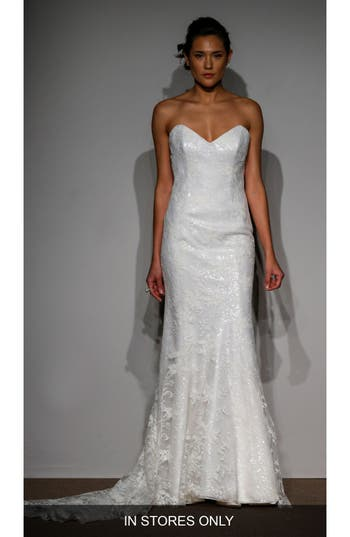 Anna Maier Sylvie Embellished French Lace Gown