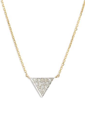 Women's Dana Rebecca Designs 'Emily Sarah' Diamond Triangle Pendant Necklace