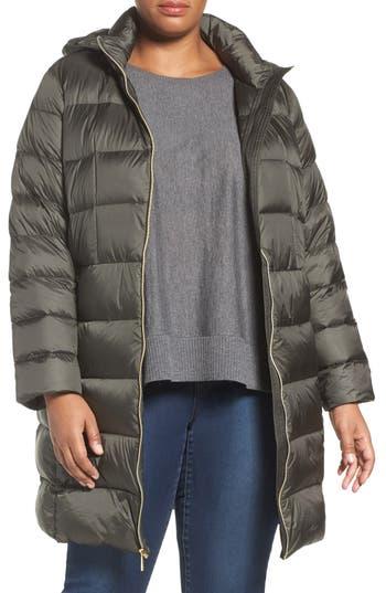 Plus Size Michael Michael Kors Packable Down Long Coat