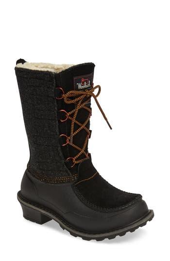 Woolrich Fully Woolly Waterproof Snow Boot, Black