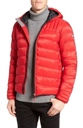 Canada Goose Brookvale Hooded Down Jacket, Red