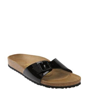 Women's Birkenstock 'Madrid' Birko-Flor(TM) Sandal, Size 9-9.5US / 40EU B - Black