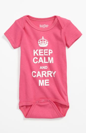 Infant Girl's Sara Kety Baby & Kids 'Keep Calm' Bodysuit