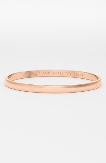 kate spade new york 'idiom - stop and smell the roses' bangle