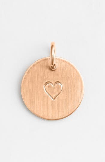 Women's Nashelle Heart Stamp Charm