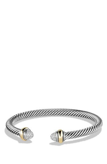 David Yurman Cable Classics Bracelet with Diamonds & 14K Gold, 5mm