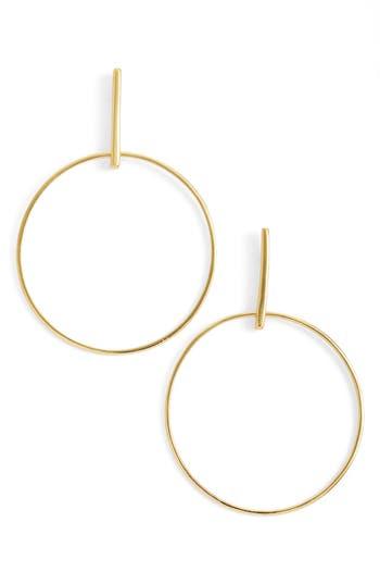 Argento Vivo Frontal Hoop Earrings