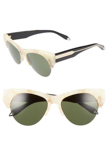 Victoria Beckham 5m Retro Sunglasses - Vanilla Marble/ Black