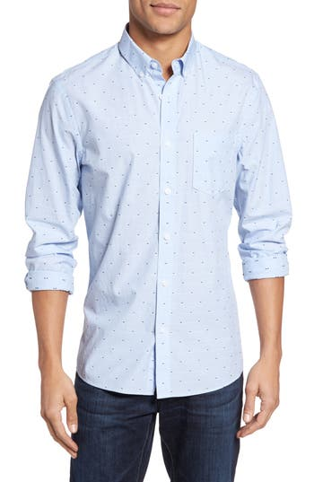 Nordstrom Shop Slim Fit Dobby Sport Shirt