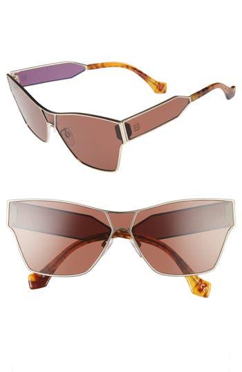 Women's Balenciaga Paris 67Mm Sunglasses - Pale Gold/ Light Brown Havana