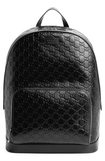 Gucci Embossed Leather Backpack