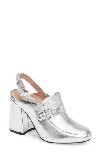 Shellys London Charity Slingback Loafer Mule Metallic