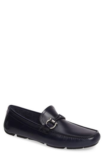 Men's Salvatore Ferragamo Front Braided Bit Driving Shoe