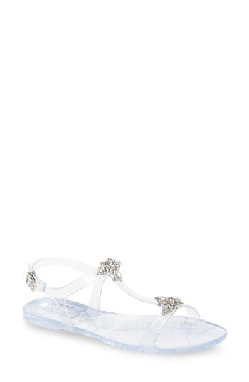 Badgley Mischka Belize Crystal Embellished Flat Sandal