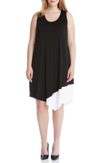 Plus Size Karen Kane Colorblock Asymmetrical Tank Dress