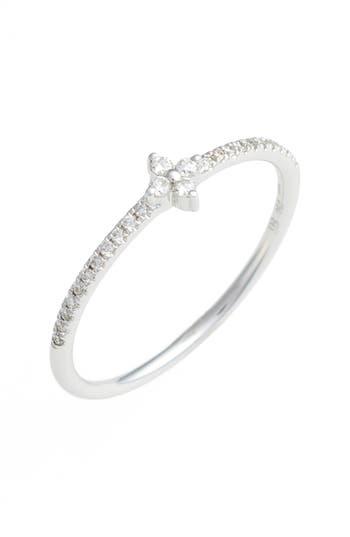 Women's Bony Levy Diamond Flower Stack Ring (Nordstrom Exclusive)