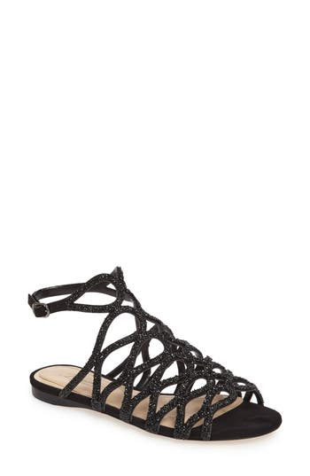 Imagine By Vince Camuto Ralee Glitter Sandal, Black