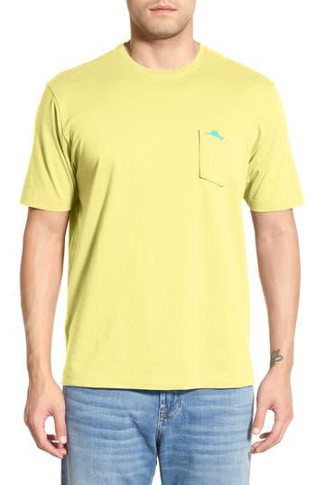 Big & Tall Tommy Bahama New Bali Sky Pima Cotton Pocket T-Shirt, Yellow