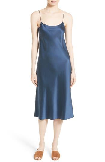 Women's Theory Telson Vintage Silk Satin Slipdress